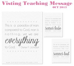 LDS Visiting Teaching Message: October 2013 - Mormon Mommy Blogs