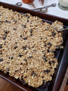 In a little bit I will be taking these Oatmeal Hermit Bars to the volunteers at Hillcrest Platte County Thrift Shop. Oatmeal Raisin Bars, Jelly Roll Pan, Big Bowl, Dried Cranberries, How To Make Cookies, Stick Of Butter, Cookie Bars, Baking Soda, Quilt