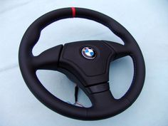 BMW AIRBAG EURO SPORTS STEERING WHEEL WITH THUMB RESTS, E36 M3,NEW NAPPA LEATHER #BMW