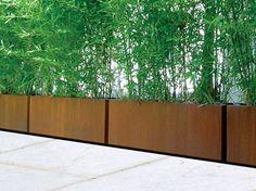 Blumenkasten aus Corten™ BAMBÙ by Metalco | Design Metalco Department