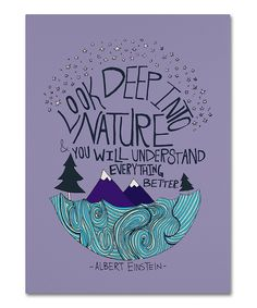 Look at this Leah Flores 'Albert Einstein - Nature' Canvas Art on today! Diy Canvas Art, Canvas Crafts, Wall Canvas, Wall Art, Painting Inspiration, Art Inspo, Creation Deco, Sorority Crafts, Canvas Quotes