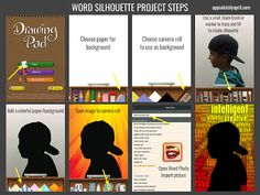 App Smashing Word Silhouette Project.