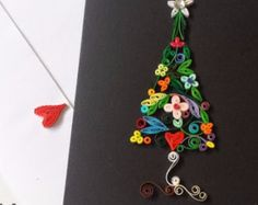 Paper quilling Christmas Tree by SweetPaperDesignSol on Etsy