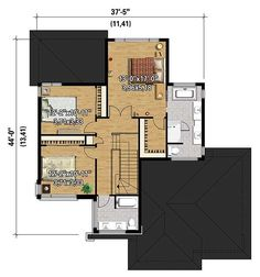Multi-Level Modern House Plan - 80840PM   2nd Floor Master Suite, Butler Walk-in Pantry, CAD Available, Canadian, Metric, Modern, Northwest, PDF, Photo Gallery, Wrap Around Porch   Architectural Designs