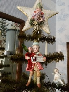 Christmas Ornaments To Make, Christmas Trees, Vintage Christmas, Christmas Decorations, Holiday Decor, Candleholders, Christen, Spun Cotton, Fashion