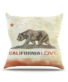 Loving this iRuz33 'California Love' Throw Pillow on #zulily! #zulilyfinds