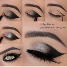easy dark smokey eye makeup ❤ liked on Polyvore featuring beauty products, makeup and eye makeup
