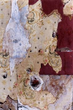 Peeling wallpapers and layers of texture and colour