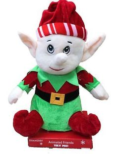 14b8507084969 Dan Dee 158788  Musical Animated Singing Christmas Elf Stuffed Animal Plush  - gt  BUY