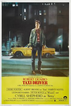 Rare Mini Print/Poster - Size: A4 (Approximately: 21 cm x 29.7 cm) 8.27 inches x 11.7 inches. Jodie Foster, Martin Scorsese, Taxi Driver, Peter Boyle, 1976 Movies, Cybill Shepherd, Albert Brooks, Ingmar Bergman, Columbia Pictures