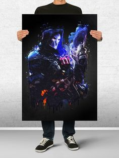 Reaper Overwatch Poster Art Print Watercolor Wall Decor Game Print Poster Gift