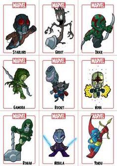 Chibi - Guardians of the Galaxy set by Juggertha