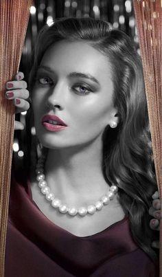 Pretty wearing pearls