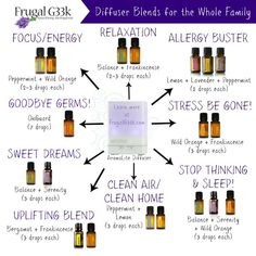 Essential Oil Blends for the Diffuser!