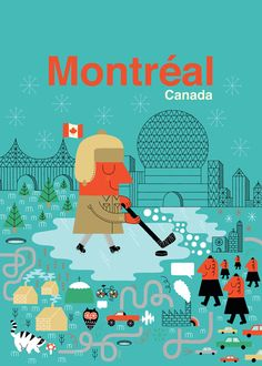 Illustration for the Human Empire poster series of big cities by Maxime Francout of Montreal, Canada: Gravure Illustration, Tourism Poster, Of Montreal, Poster Series, Travel Maps, Canada Travel, Canada Trip, Canada Eh, Retro Art
