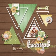 Layout using Spring Blossoms 6 pack plus FWP by LorieM Designs