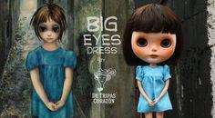 Big Eyes dress for Blythe Doll/ Tim Burton by DeTripasCorazon