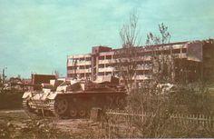 Stug III F8 of StuG.Abt. 244. The photograph was taken in Stalingrad 1942-10-15 inside Traktor Factory