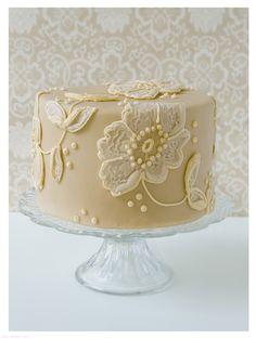 pastel de un piso para bodas