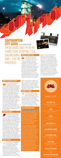 SOUTHAMPTON: City guide   From the AFS Student Life guide