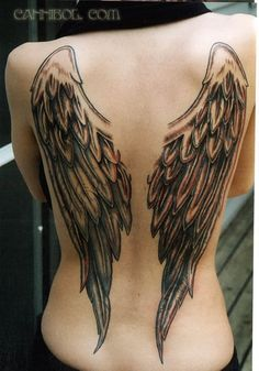 Michaela's Tattoo (symbol for Lucy would be between shoulder blades)