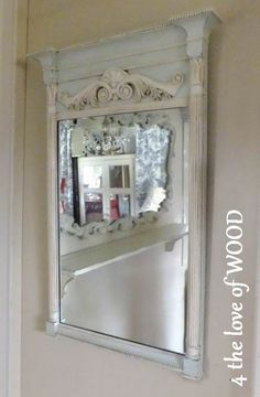 DIY - A little Shabby & A Little Vintage- Trumeau mirror Tutorial