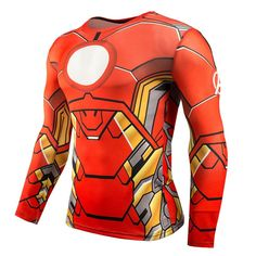 Fitness Compression Shirt for Men Superman Bodybuilding Long Sleeve 3D T Shirt Crossfit Tops Shirts