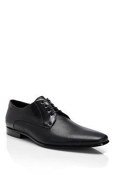 Hugo Boss - 'Sliko' | Embossed Leather Lace-Up Dress Shoe, Black