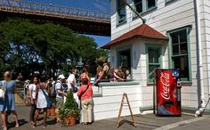 Work off some calories with a walk across the Brooklyn Bridge, and then meander along the waterfront to this charming ice cream shop housed in a 1920s fireboat house. Featuring natural, homemade ice...