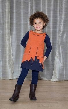 Skyline Applique Jumper - The Dragon and The Rabbit - Leggings available at http://www.thedragonandtherabbit.com/categories/GIRLS/Pants-%26-Jeans/Leggings/