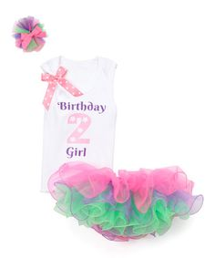 $29.99 marked down from $61! White & Purple 'Birthday Girl 2' Tank Set - Infant & Toddler #baby #girl #infant #toddler #girls #tutu #party #dress #sale #zulily! #zulilyfinds