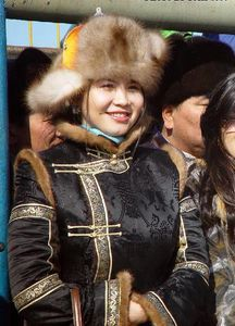 And then I saw this gorgeous Mongolian woman's outfit and my winter style goals changed forever.