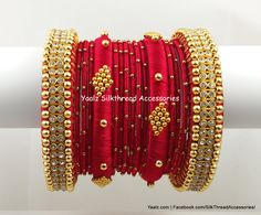 For orders, ping us in whatsapp at 8754032250 We Ship To All Coutries Silk Thread Bangles Design, Silk Thread Necklace, Silk Bangles, Bridal Bangles, Thread Jewellery, Chuda Bangles, Gold Earrings Designs, Bangle Set, Jewelry Patterns