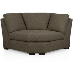 Crate & Barrel Axis II Sectional Wedge (€560) ❤ liked on Polyvore featuring home, furniture, sofas, crate and barrel couch, crate and barrel sectional, colored furniture, crate and barrel and woven furniture