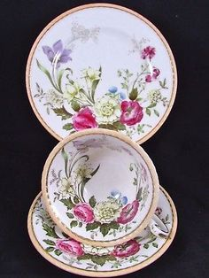 PARAGON DUBARRY PINK ROSE FLORAL TRIO TEA CUP AND SAUCER