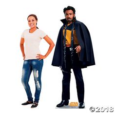 Who wouldn't want to pose for a picture with one of the most charming rogues in the Star Wars franchise? This Lando Calrissian stand-up features a young . Star Citizen, Star Wars Party Supplies, Space Music, Lando Calrissian, Orson Welles, Photo Booth Props, S Pic, Stand Up, Music Videos