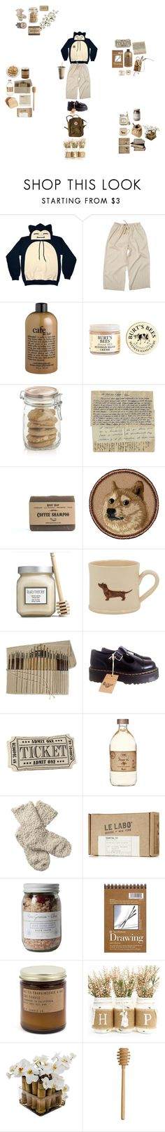 """""""the night of the sun"""" by jayda-xx ❤ liked on Polyvore featuring philosophy, Burt's Bees, Crate and Barrel, Laura Mercier, The Good Home Co., Polaroid, Dr. Martens, Fat Face, Le Labo and Zoet Bathlatier"""