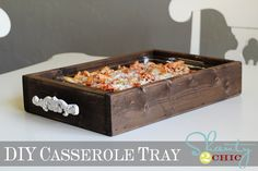 DIY Wood Casserole Tray