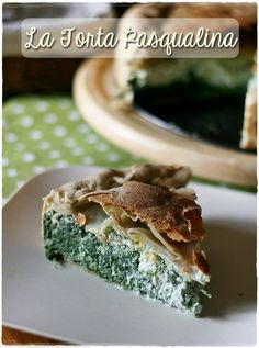 La Torta Pasqualina - Easter Pie ...a savoury pie filled with greens (in this case spinach, wild poppy leaves and dandelion greens) ricotta and eggs! ...from Liguria region ...Italy!