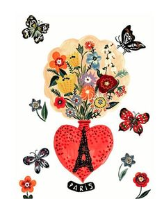 Artwork by Nathalie Lete for new Design Farm PARIS Tote, Fall 2016.