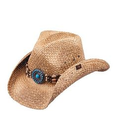 9beae975e65 Another great find on  zulily! Brown Embellished Cree Cowboy Hat   zulilyfinds Cowgirl Hats