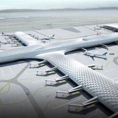 Shenzhen International Airport Terminal 3 by Massimiliano and Doriana Fuksas