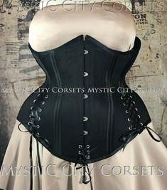 New MCC-81 plus size corset cotton underbust by MystiCCityCorsets