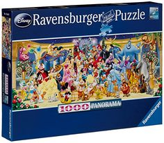 Ravensburger Disney Panoramic Jigsaw Puzzle (1000 Piece)  Our puzzles are a perfect way to relax after a long day or for family fun on a rainy day. Be one of the millions to experience a whole new world of puzzling fun with Ravensburger quality products. Every one of our pieces is unique and fully interlocking. The quality is enhanced by the vast array of shapes made by our handcrafted tools - one of the many ways that Ravensburger shows its passion for excellence. Ravensburger Puzzle, Disney World Map, World Map Puzzle, Disney Puzzles, Puzzle Shop, Clementoni Puzzle, Harry Potter, Popular Toys, Star Wars
