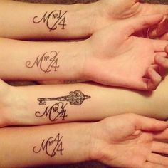 Love this for the Mahoney trio. :) (Sister Tattoos)