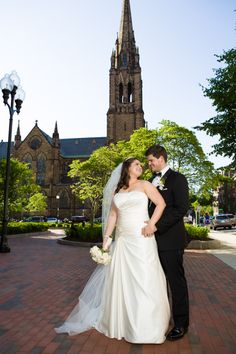 Pose in front of the venue where you got married, but far enough away that it you can get the whole venue in the shot.  Bill and Stephanie's Black-Tie wedding at the Boston Common Ritz-Carlton » Fucci's Photos of Boston–Something Blue Blog | Boston Wedding Pho...