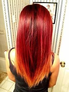 red ombre - I probably would never do this, but I love the idea!