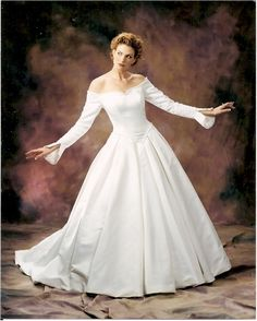 off the shoulder wedding gowns with long sleeves