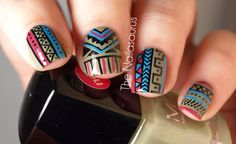 31 Days of Nails Challenge. I LOVE the tribal print!