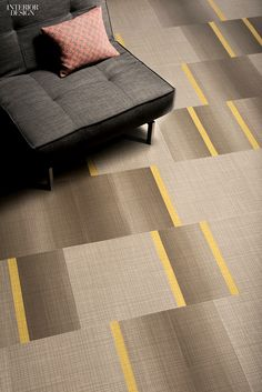 66 Editors' Picks in Flooring | Connected carpet tile in recycled vinyl by Mannington Commercial